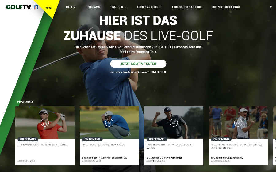 Screenshot GOLFTV